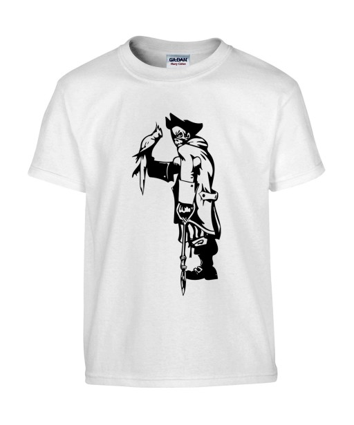 T-shirt Homme Tattoo Pirate [Tatouage, Animaux, Perroquet] T-shirt Manches Courtes, Col Rond
