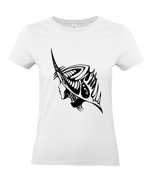 T-shirt Femme Tattoo Alien [Tatouage, Science-Fiction] T-shirt Manches Courtes, Col Rond