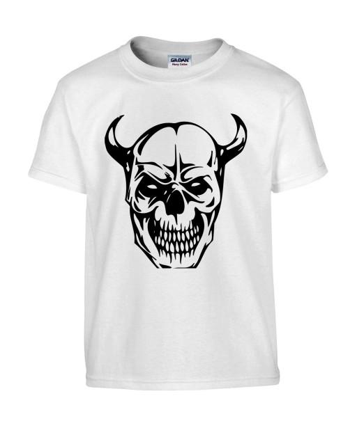 T-shirt Homme Tattoo Tête de Mort [Skull, Tatouage, Démon] T-shirt Manches Courtes, Col Rond