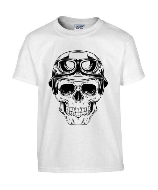 T-shirt Homme Tête de Mort Army [Skull, Aviateur, Moto, Motard, Biker, Armée] T-shirt Manches Courtes, Col Rond
