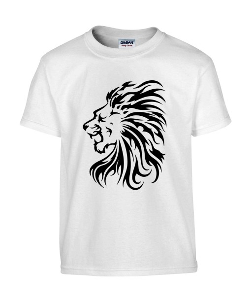 T-shirt Homme Tattoo Tribal Lion [Tatouage Animaux, Zodiac] T-shirt Manches Courtes, Col Rond