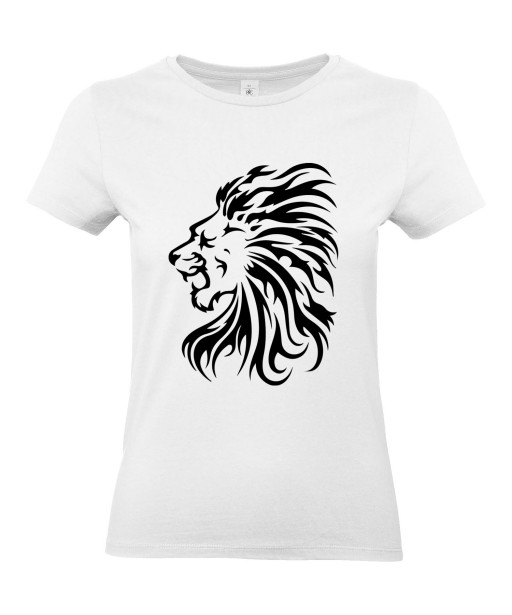 T-shirt Femme Tattoo Tribal Lion [Tatouage Animaux, Zodiac] T-shirt Manches Courtes, Col Rond