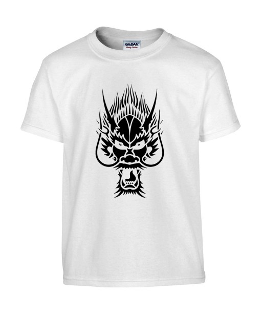 T-shirt Homme Tattoo Tribal Dragon [Tatouage, Chine, Spirituel] T-shirt Manches Courtes, Col Rond