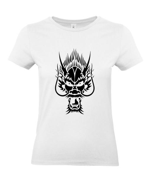T-shirt Femme Tattoo Tribal Dragon [Tatouage, Chine, Spirituel] T-shirt Manches Courtes, Col Rond