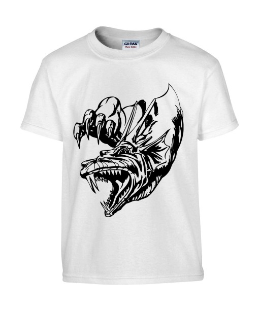 T-shirt Homme Tattoo Dragon [Tatouage, Reptile, Animaux, Dinosaure] T-shirt Manches Courtes, Col Rond