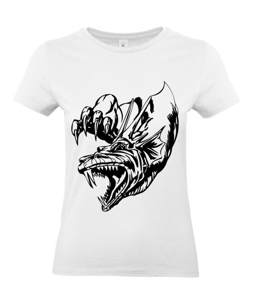 T-shirt Femme Tattoo Dragon [Tatouage, Reptile, Animaux, Dinosaure] T-shirt Manches Courtes, Col Rond