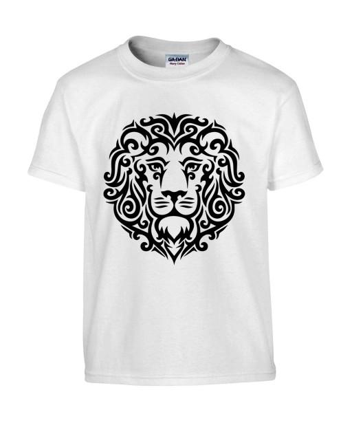 T-shirt Homme Tattoo Tribal Lion Design [Tatouage Animaux, Graphique, Zodiac] T-shirt Manches Courtes, Col Rond