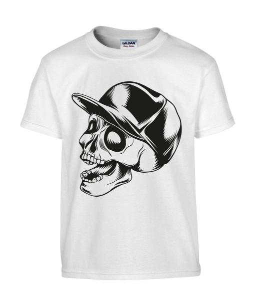 T-shirt Homme Tête de Mort Skater [Skull, Urban, Hip-Hop] T-shirt Manches Courtes, Col Rond
