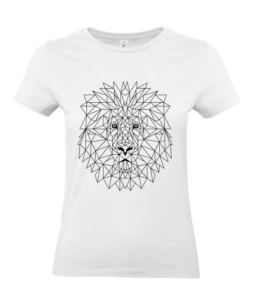 T-shirt Femme Tattoo Lion Géométrique [Tatouage, Animaux Design, Graphique, Zodiac] T-shirt Manches Courtes, Col Rond
