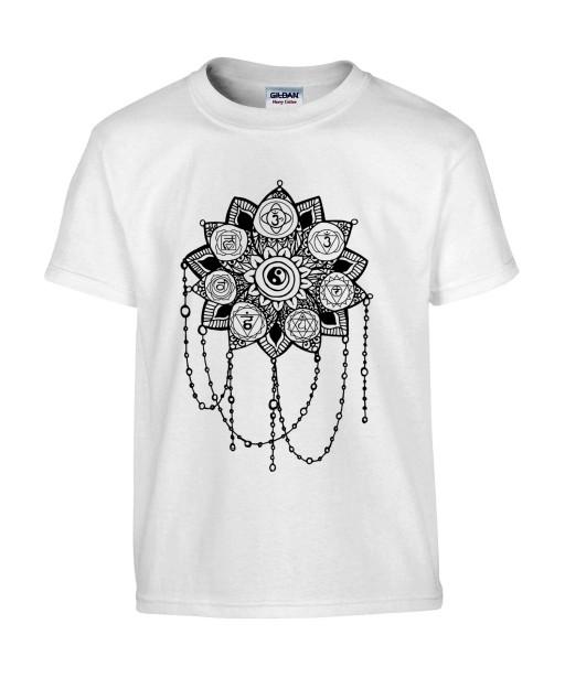 T-shirt Homme Tattoo Yin Yang [Tatouage, Zen, Spiritualité, Symboles, Graphique, Design] T-shirt Manches Courtes, Col Rond