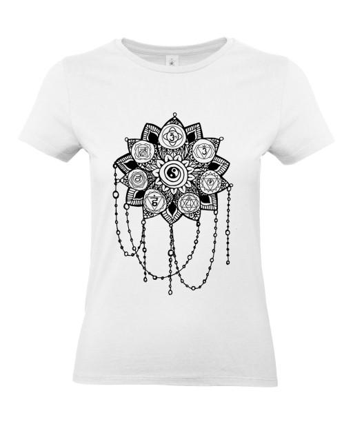 T-shirt Femme Tattoo Yin Yang [Tatouage, Zen, Spiritualité, Symboles, Graphique, Design] T-shirt Manches Courtes, Col Rond