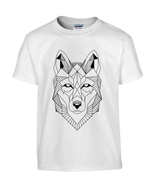 t shirt homme tattoo g om trie loup tatouage animaux. Black Bedroom Furniture Sets. Home Design Ideas