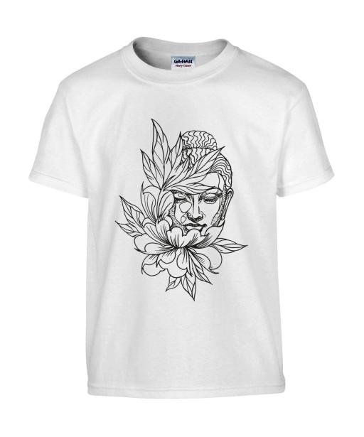 T-shirt Homme Tattoo Buddha Lotus [Tatouage, Bouddha, Religion, Zen, Spiritualité ] T-shirt Manches Courtes, Col Rond