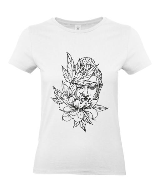 T-shirt Femme Tattoo Buddha Lotus [Tatouage, Bouddha, Religion, Zen, Spiritualité ] T-shirt Manches Courtes, Col Rond
