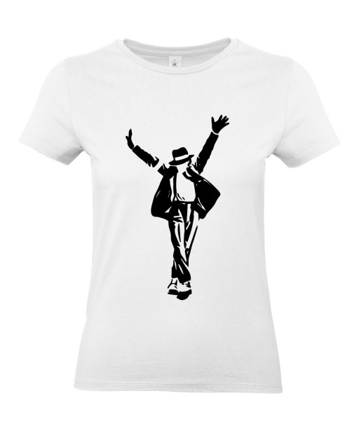 T-shirt Femme Michael Jackson King Of Pop [King, Pop, This Is It, Musique, Célébrité] T-shirt Manches Courtes, Col Rond