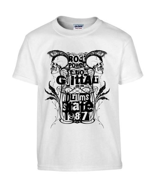 T-shirt Homme Tête de Mort Rock [Skull, Punk, Musique, Festival, 1987] T-shirt Manches Courtes, Col Rond