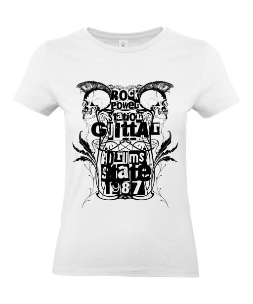 T-shirt Femme Tête de Mort Rock [Skull, Punk, Musique, Festival, 1987] T-shirt Manches Courtes, Col Rond